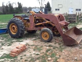 John Deere 400 Diesel Tractor with Loader and Attachments