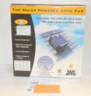 Fan Attic Solar Powered Attic Fan System Kit