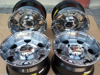 Arctic Cat G8 Platinum Aluminum ATV Wheels Full Complete Set 4
