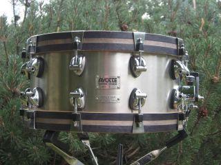 Ayotte/Keplinger 6.5 X 14 Stainless Steel Snare Drum  Wood and Metal