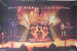 Official Kiss 1977 Love Gun Bill Aucoin Poster Original