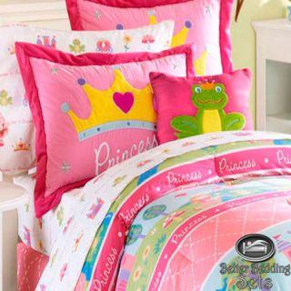 Baby Girl Toddler Pink Princess Castle Crown Crib Nursery Comforter