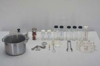 1960s Formulette Aluminum Baby Bottle Sterilizer Pan Bottles Rack