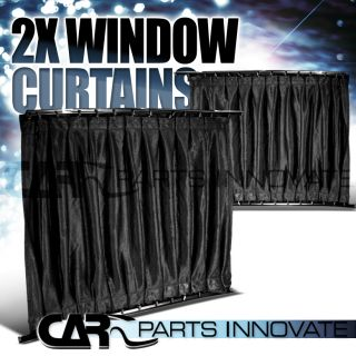 20x16 VIP STYLE CAR DOOR WINDOW CURTAIN SUN VISOR SHADE PAIR