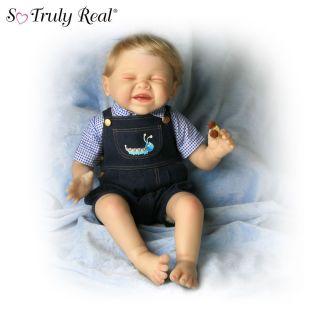 So Truly Real Fuzzy Fun Lifelike Baby Boy Doll By Bonnie Chyle