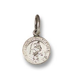 Sterling Silver Tiny St Saint Christopher Baby Charm