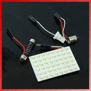 48 LED SMD 1206 Interior Room Dome Door Auto Car Light Lamp Bulb White
