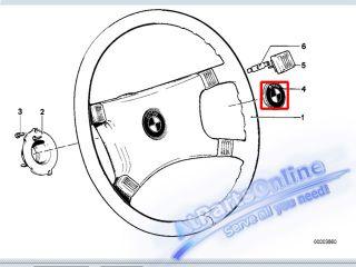 Auto Pro. Steering Wheel Emblem Gold Color M Logo Cap BMW E12 E21 E23