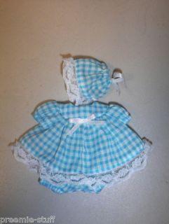 Baby Doll Clothes Dress Aqua Gingham 4 Dolls 5 6 Long