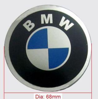 55mm BMW Logo Car Tire Wheel Center Cap Sticker 4pcs Set