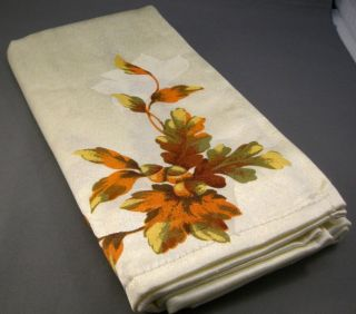 Autumn Gatherings Fall Leaf Decorated Damask Dinner Napkins Set of 4