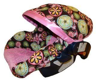 Girl Infant Baby Car Seat Slip Cover Carnival Bloom