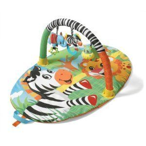 Infantinio Baby Animal Gym Play Mat Little Activity Center Discover