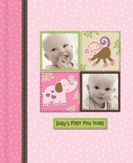 Silly Monkey Baby Girl   Babys First Five Years Keepsake Record Book