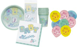 Baby Shower Party Pack Tableware 57 Items Ideal for Boy or Girl Free P