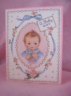 Handmade Greeting Card Baby Girl Gift Note Card
