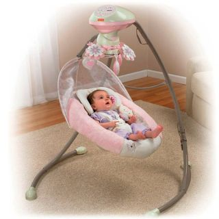 Fisher Price My Little Sweetie Baby Cradle Swing w Music W9510