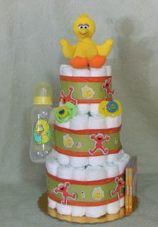 Tier Diaper Cake BIG BIRD Sesame Street Baby Shower Centerpiece Boy