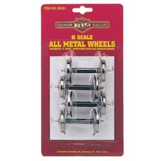 Bachmann 92421 G Scale Big Haulers Metal Wheels Set 4 New