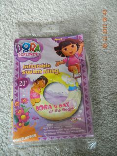 New Dora The Explorer 20 Swim Ring Tube Toy Pool Float 3 Inflatable