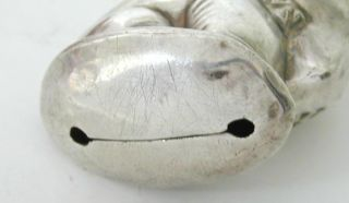 Silver Plated Comic Scottie Dog Baby Rattle w Teething Ring