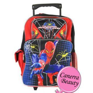 Man 16 inch Large Roller Back to School Backpack Kids Rolling