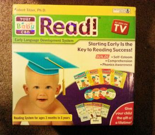 Your Baby Can Read 4 DVD Books Set Plus Parents DVD Free Shipping