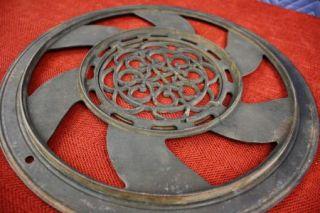 Pcs. Antique 1897 Adams Company Cast Iron Round Grate Vent Heater