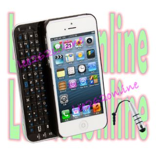 Bluetooth Backlight Slide Out Keyboard Case For Apple Iphone 5 Stylus