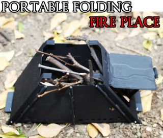 Portable Folding Fire Place Backpacking Camping Stove Compact Cooker