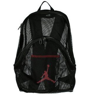 Nike Air Jordan Mesh Backpack Black Varsity Red Summer
