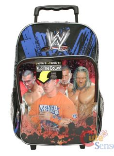 WWE Wrestling Rolling Backpack / School Roller Bag  Large 2 in1