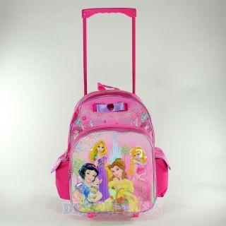 Princess 16 Roller Backpack Rolling Girls Bag Wheeled Princess