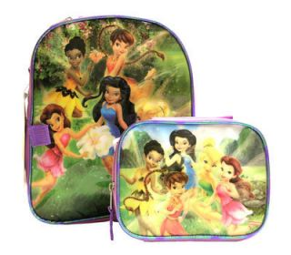 Disney Tinkerbell Fairies Kids 12 Backpack Lunch Bag