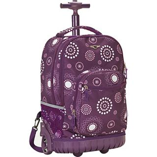 an image to enlarge rockland luggage sedan 19 rolling backpack purple