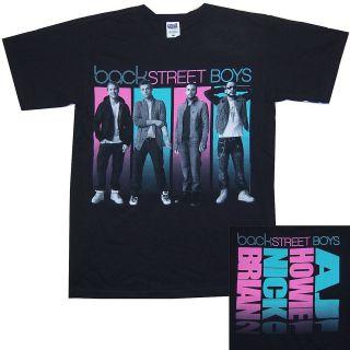BACKSTREET BOYS LINE UP PIC FIRST NAMES TOUR 2011 BLACK T SHIRT MEDIUM