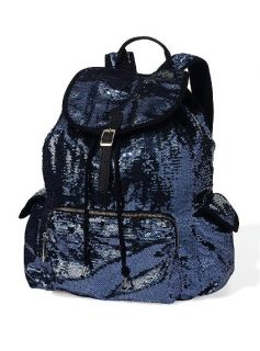 Pink Black Sparkly Sequin Backpack Limited Edition School