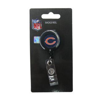 chicago bears nfl retractable id badge reel clip