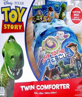 TOY STORY RESCUE TOYS TWIN COMFORTER SHEETS BEDDING SET NEW