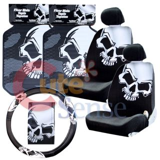 Car Seat Cover Auto Accesories Set Mat Steering Wheel Cover 1