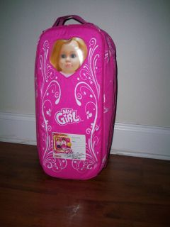 18 Doll Baby Carry Case Carrying Carrier Pink Fits American Girl Doll
