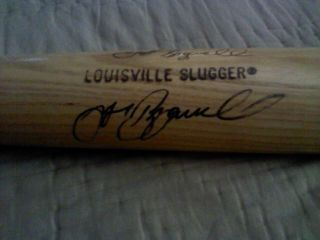 Jeff Bagwell autographed bat Houston Astros