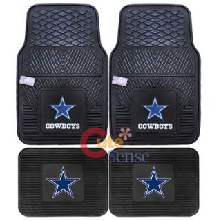 Cowboys Car Floor Mat Front Rare NFL auto Accessories set 1