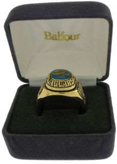 Balfour Ring Football NFL Team Jacksonville Jaguars Sz 9 5