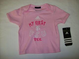 Florida State Seminoles FSU Adidas Baby Pink My First Tee T Shirt Sz 3