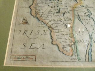 Antique Coloured Generall Mappe Richard Blome 1672 Cumberland Map 25