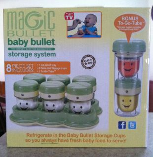 NIB* MAGIC BABY BULLET FOOD STORAGE SYSTEM 8pc(Date Dial cups,tray,to