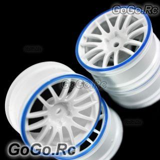 Pcs 1 10 White Blue Car Wheel Rims 14 Spoke 9067