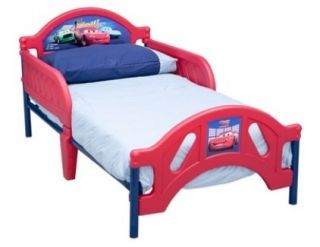 Toddler Bed Frame Boys Red Blue Kids Childs Size 2 Safety Rails Crib