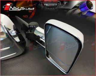 GMC SIERRA SILVERADO 1500 2500 3500 TOWING MIRRORS CHROME MIRROR PAIR